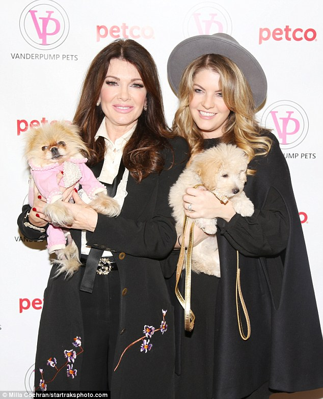 Paws and all: The 56-year-old was joined by daughter Pandora and dogs Harrison and Giggy to celebrate Vanderpump Pets releasing a collection exclusive to the national pet retailer