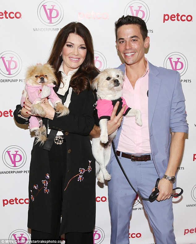 Dynamic duo: Lisa was joined at the event by co-founder of Vanderpump Pets Dr John Sessa