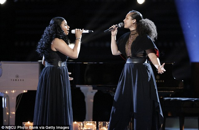 Powerful performance:Wé McDonald and Alicia Keys took on Stevie Wonder's version of Ave Maria