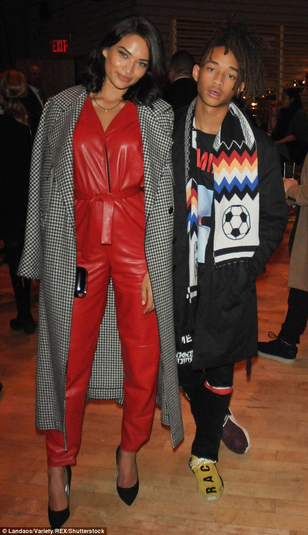 Showing his support! Will Smith's son Jaden showed his support as he rocked a soccer scarf and long black coat