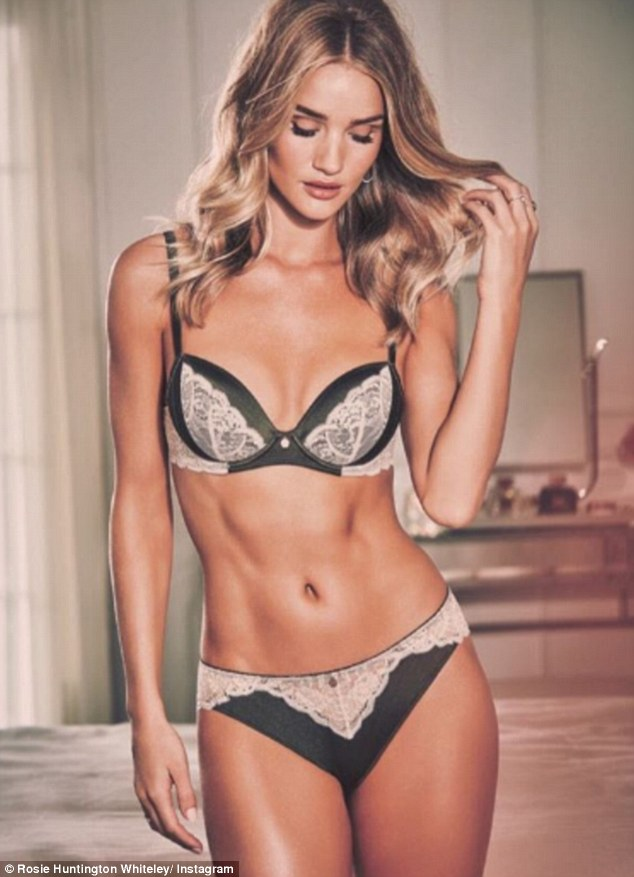 Stunning shape: Rosie heads up one of the best-selling lingerie brands on the British high street, for M&S