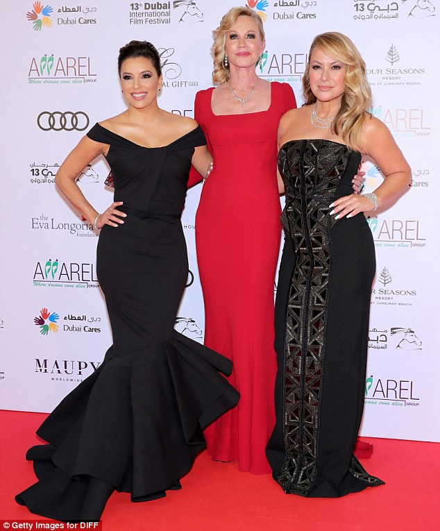 Shining stars: Singer Anastacia, 48, joined the ladies for the evening. She was also scheduled to perform