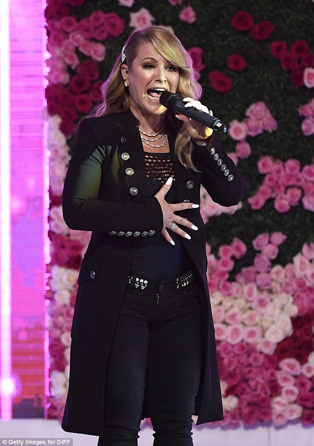 In her element: Singer Anastacia gave a heartfelt performance