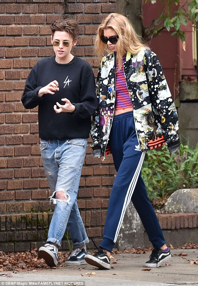 Just friends?Stella Maxwell was pictured spending the week in Savannah, Georgia, as she visited Kristen Stewart on set of her new historical film