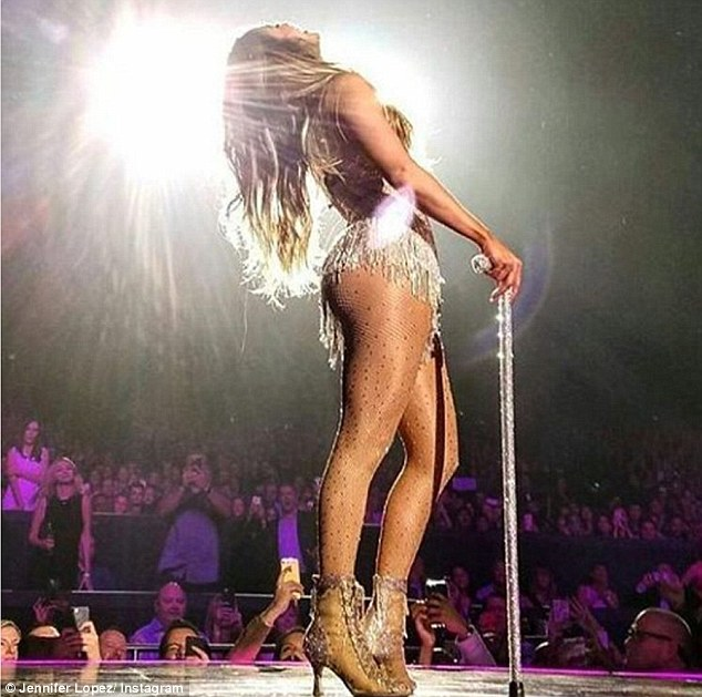 It's showtime: The singer also posted a photo of her on stage as she began the fourth leg of the Planet Hollywood residency, which originally kicked off in January