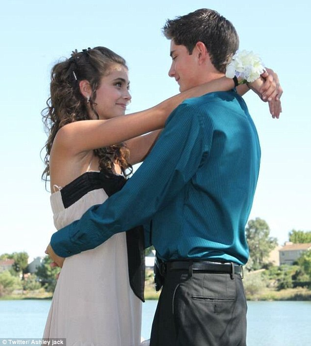 Sophomore year: This week, he and his sister Ashley shared old photos from high school