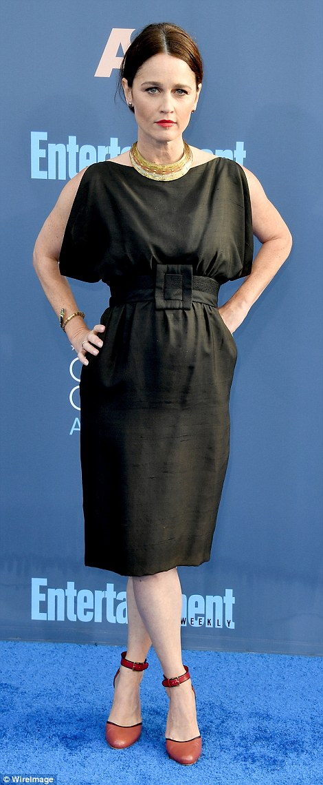 LBD ladies:Rachel Bloom andRobin Tunney donned sophisticated knee-length numbers