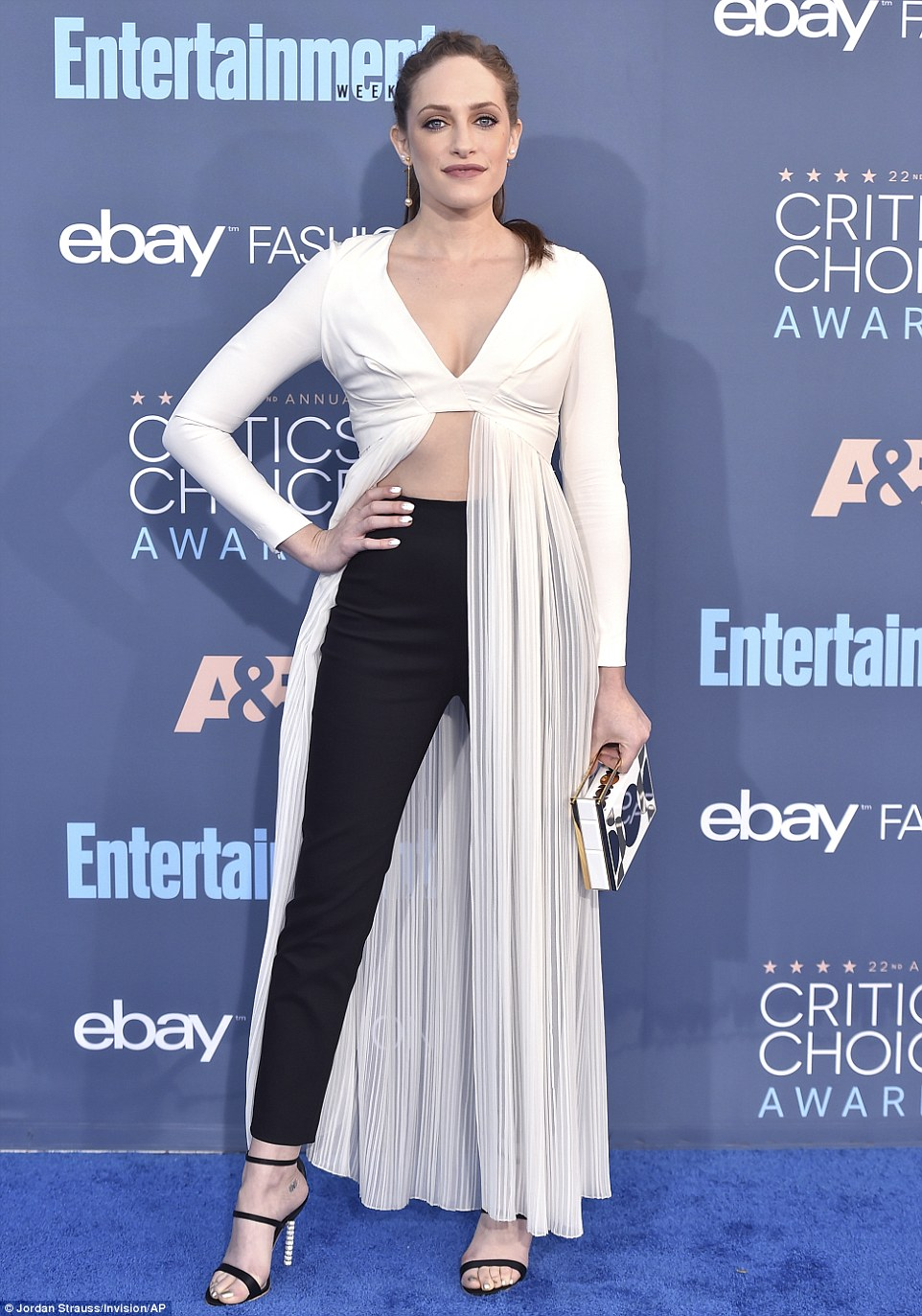 Couldn't decide? Actress Carly Chaikin wore trousers and a dress
