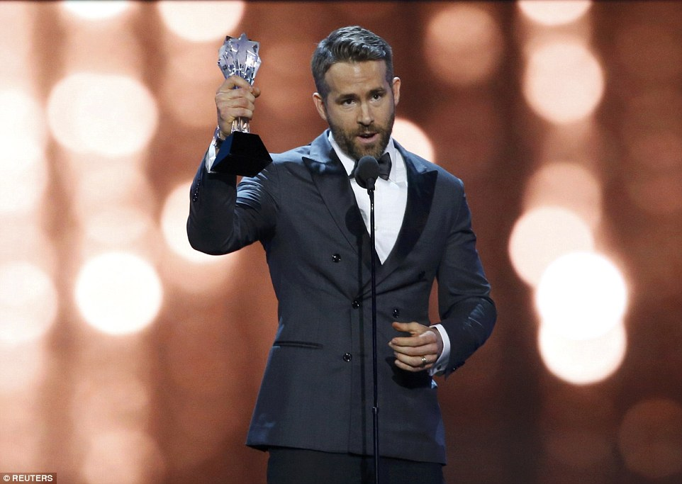 Deadpool's a winner: Ryan Reynolds won Best Comedy Actor for the action-comedy romp, Deadpool