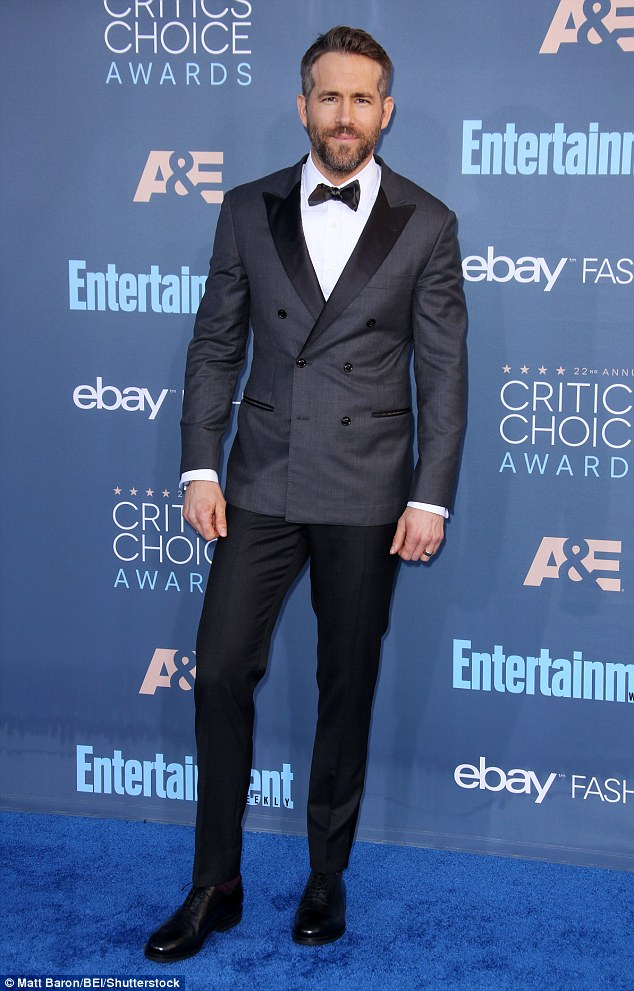 Proud parent! Ryan Reynolds revealed his two-year-old daughter James' first full sentence was inspired by Tom Hanksduring his acceptance speech for Best Actor in a Comedy for 'Deadpool' at the Critics' Choice Awards on Sunday night