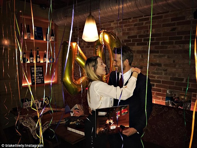 Happy couple: Ryan celebrated his 40th birthday in October