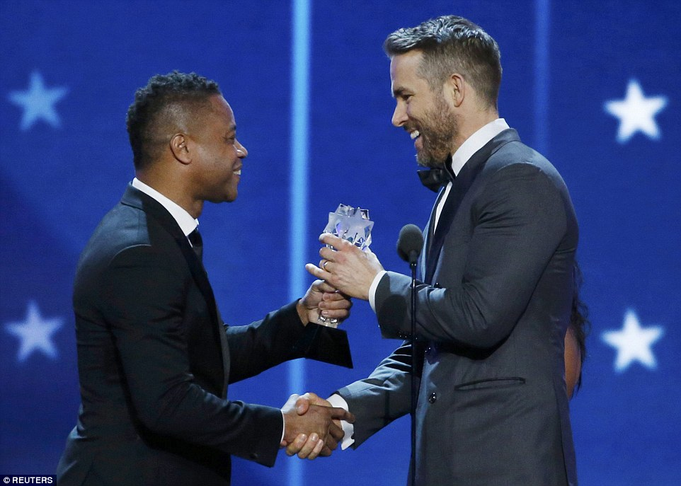 Respect: Ryan was also given the Best Actor in a Comedy award by Cuba Gooding Jr