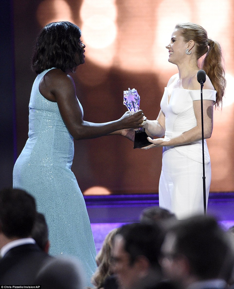 Iconic: Another standout honoree was Viola Davis who was the recipient of the first ever See Her Award presented by Amy Adams, which resulted in one of the most emotional moments of the night