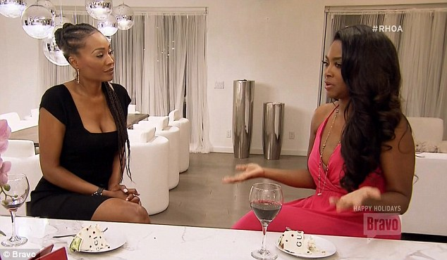 Showing support: Cynthia Bailey talked to Kenya about Matt and urged her to take a break