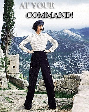 At your command!