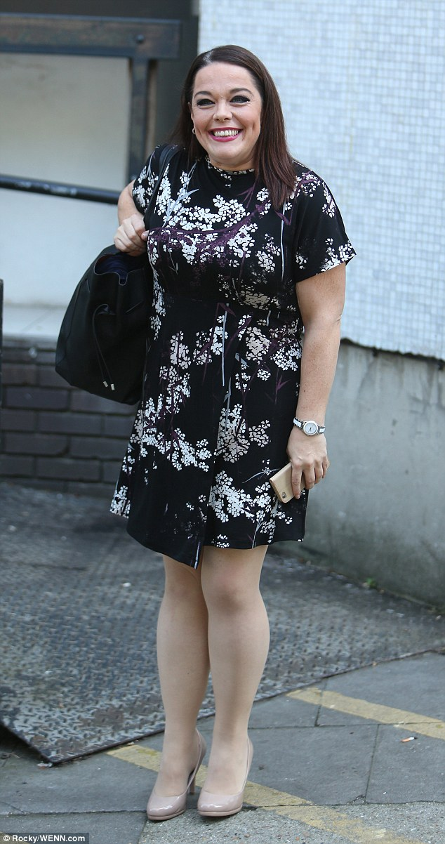 Looking good: Lisa has wowed her fans in recent times by losing over ten stone in weight - slipping from a size 30 to a 12