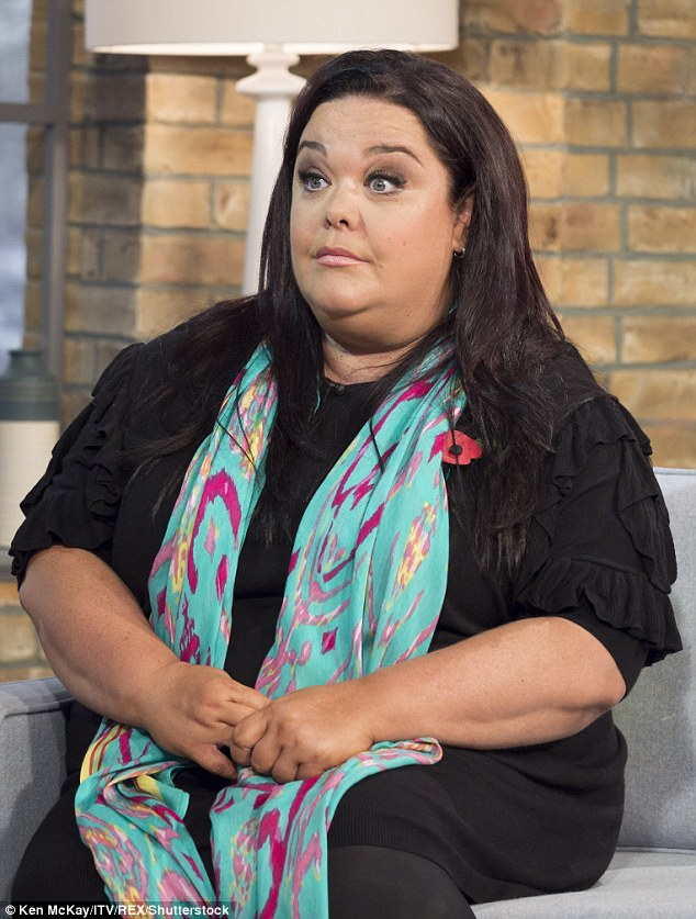 Drastic change: Lisa (pictured in November 2014) recently took a lie detector test live on air to prove she had shed the pounds through her own effort and diet - not surgery