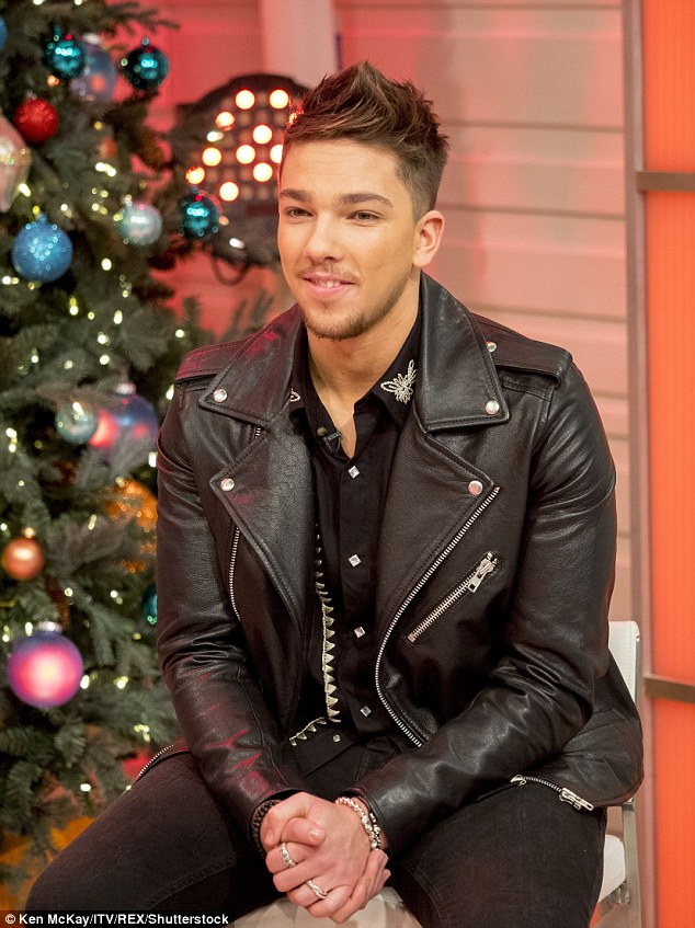Black to basics: Matt looked stylish in an all-black ensemble that included a leather jacket during an appearance on Good Morning Britain