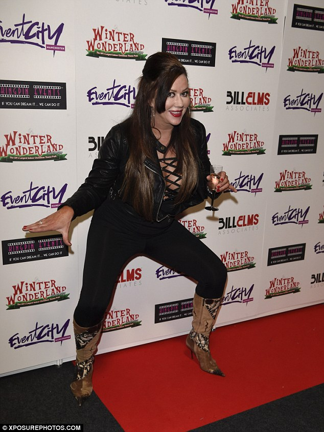 Grr!Lisa, who soared to fame on the fly-on-the-wall reality show in 2008, looked stunning as she arrived at the bash in a skin-tight black ensemble