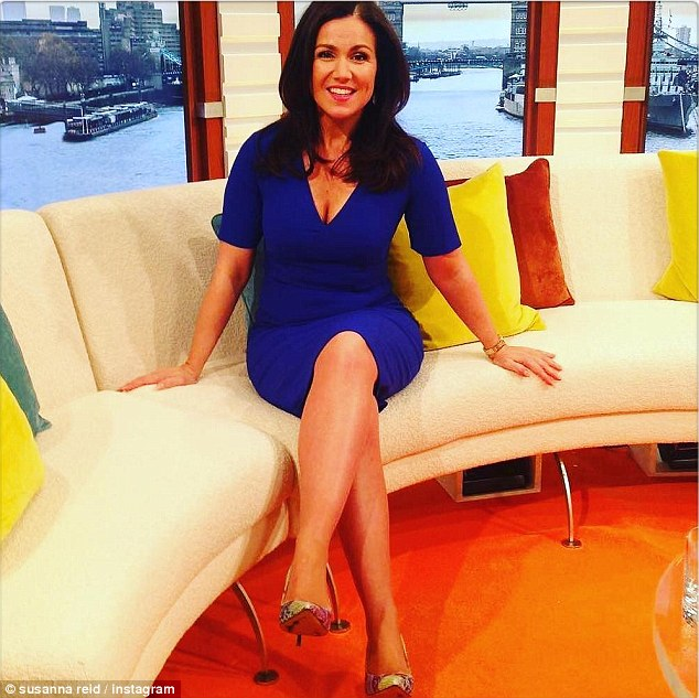 Upbeat: The presenter posted on her birthday: 'Feeling so happy at 46. Ageing is a blessing to be welcomed & enjoyed. Thank you for your birthday love'