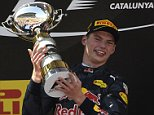 Infiniti Red Bull's Belgian-Dutch driver Max Verstappen  celebrates on the podium after the Spanish Formula One Grand Prix on May 15, 2016 at the Circuit de Catalunya in Montmelo on the outskirts of Barcelona.LLUIS GENE/AFP/Getty Images