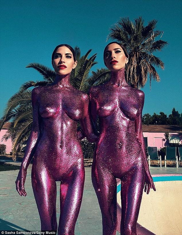 Backlash: After sharing the cover art for their recent comeback single In My Blood, which showed the pair completely naked and covered in purple glitter paint, they received overwhelming criticism online