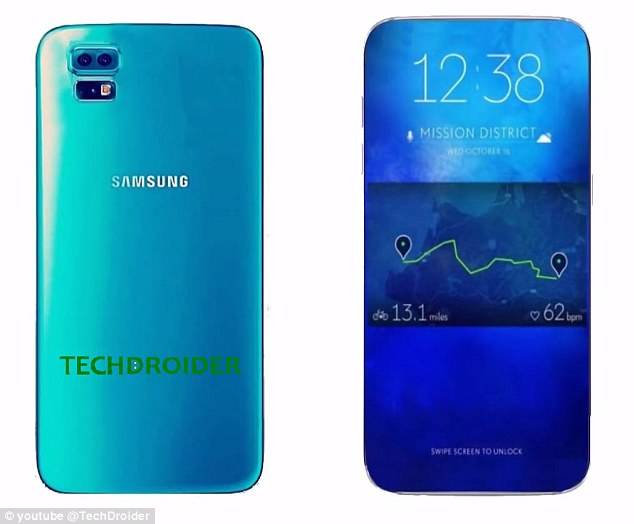 Sources reveal that Samsung is set to remove 3.5 mm headphone jack in the Galaxy S8, which will free up space for more components and a larger battery. Pictured is an artist impression of what the Galaxy S8 may look like