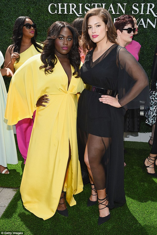 Ladies united: Danielle and Ashley Graham have previously modeled together