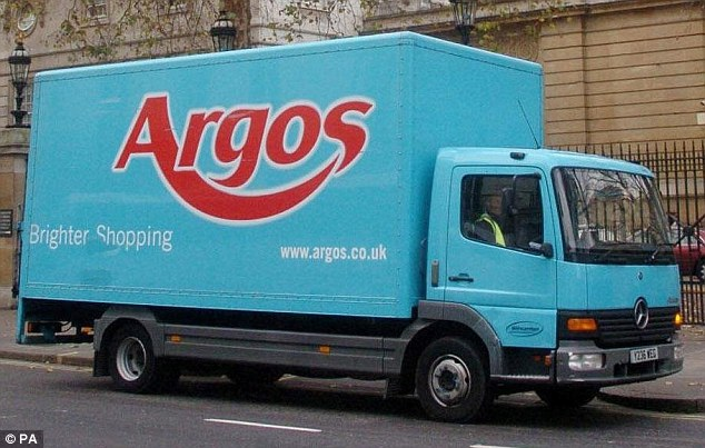 Van: Drivers who deliver goods for retail giant Argos are to go on strike in a dispute over pay