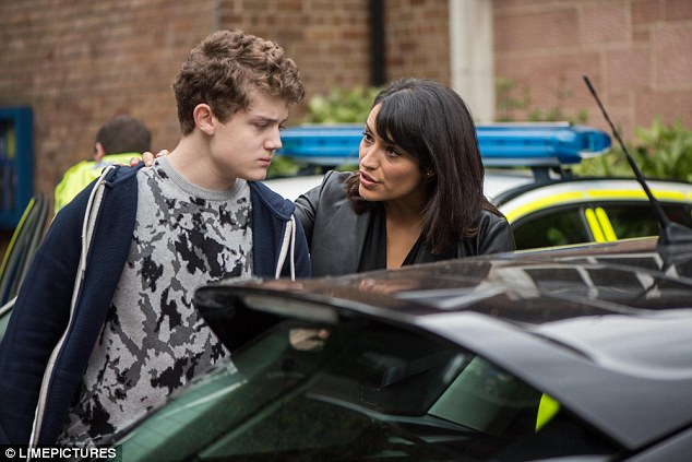 Caught! Tonight's first-look episode of Hollyoaks on E4 saw Eva (Kerry Bennett) get her hands on Tom (Ellis Hollins) following Peri's (Ruby O'Donnell) decision to approach the police