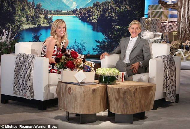 Trending: The Academy Award winner laughed as DeGeneres brought up Wreath Witherspoon