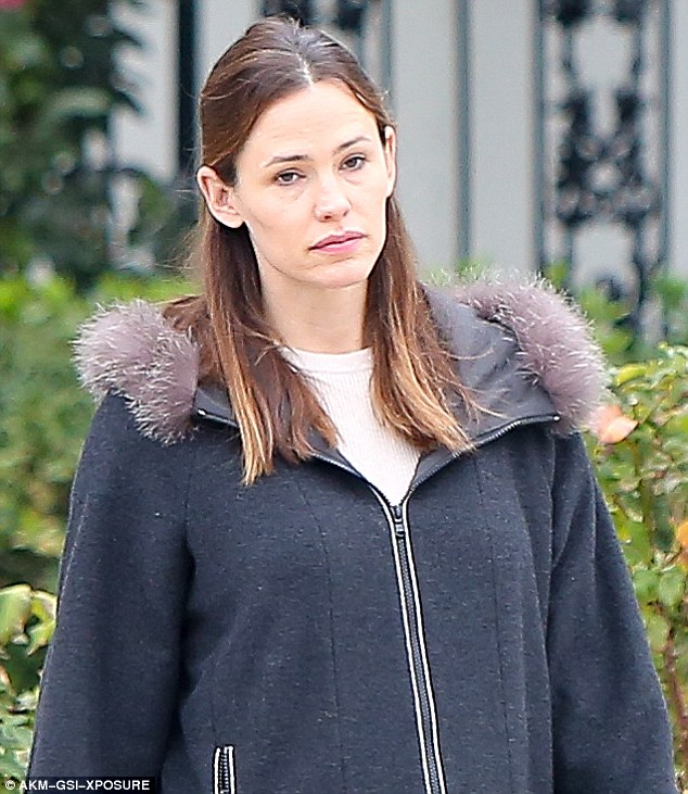 Time for a nap: Jennifer Garner looked sleepy on Tuesday as she ran errands in Los Angeles