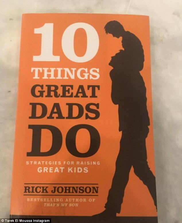 'Raising kids is the most important thing': Tarek also took to Instagram on the day of the separation announcement with a photo of a book entitled '10 Things Great Dads Do'