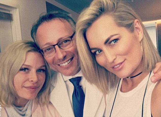 Surgeon to the stars! Skye's surgeonDr. Michael Zacharia (center) was also behind Keira Maguire from The Bachelor's recent nose job