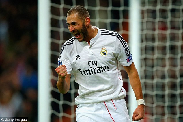 United are set to bid £30m for Benzema, who is likely to find himself behind Cristiano Ronaldo next season