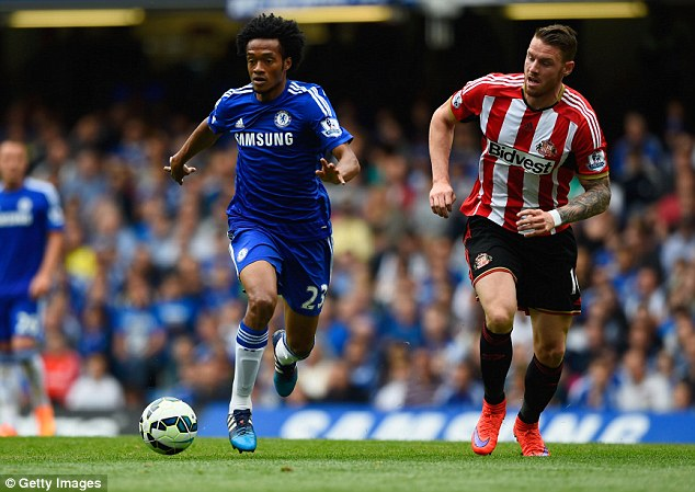 Chelsea winger Juan Cuadrado (left) could leave the club this summer despite only joining in January