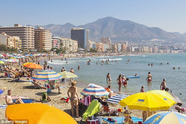 The tragedy happened in the popular tourist town of Fuengirola in the Costa Del Sol, where the man was staying with his partner