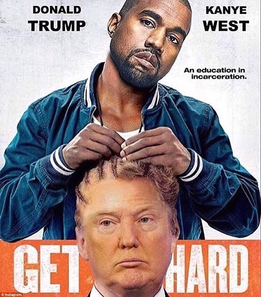 Votes for Trump: Before he was hospitalized for a mental breakdown, Kanye went on a long rant at a concert about how he didn't vote - but if he had it would have been for Trump