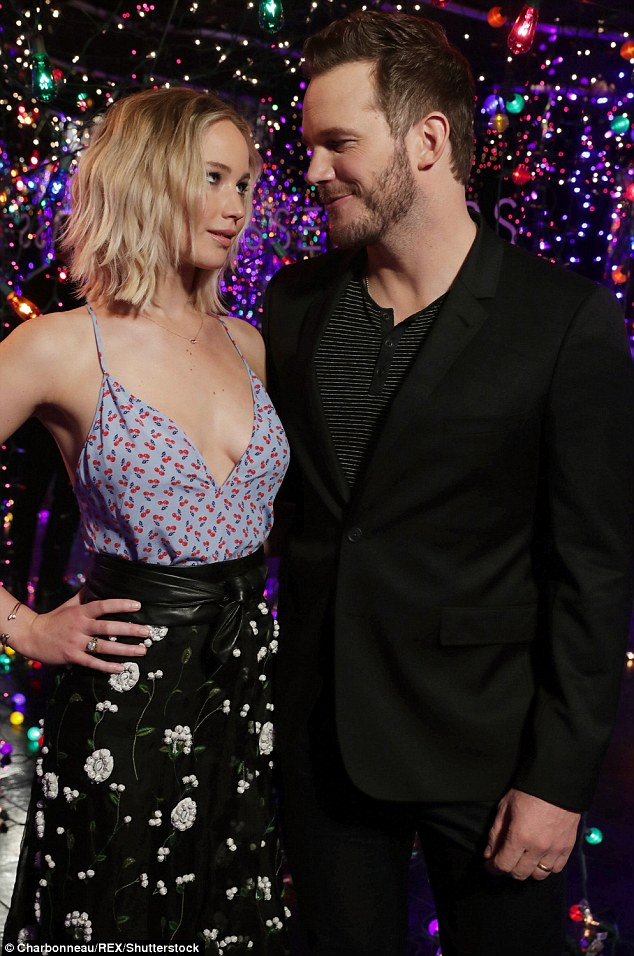 Eye to eye: The co-stars gave each other a goofy expression having played lovers