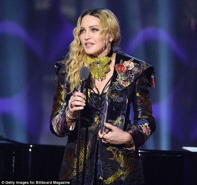 Accusations: Madonna called out writer Camille Paglia in her speech at the Billboard Women in Music event, claiming the writer said she 'set women back' by objectifying herself