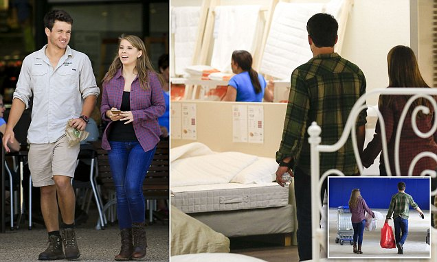 Bindi Irwin shops for a double bed and homewares with boyfriend Chandler Powell