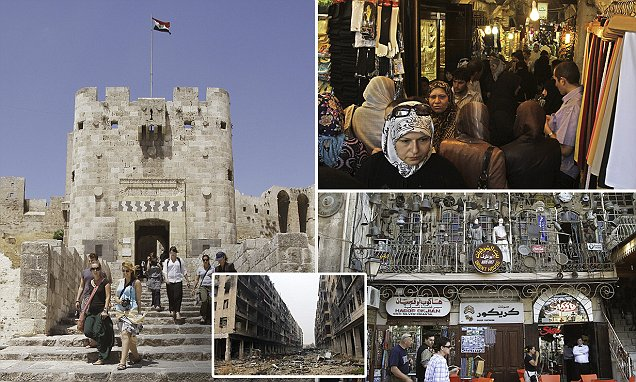 Historic images show how tourists flocked to Aleppo to visit the world's largest markets
