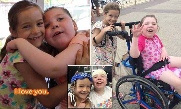 The incredible bond between a disabled little girl and her best friend is captured in