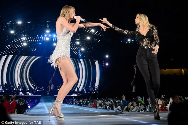Hot to trot: Taylor Swift invited Gigi to perform on stage with her during the 1989 World Tour Live at Ford Field last year