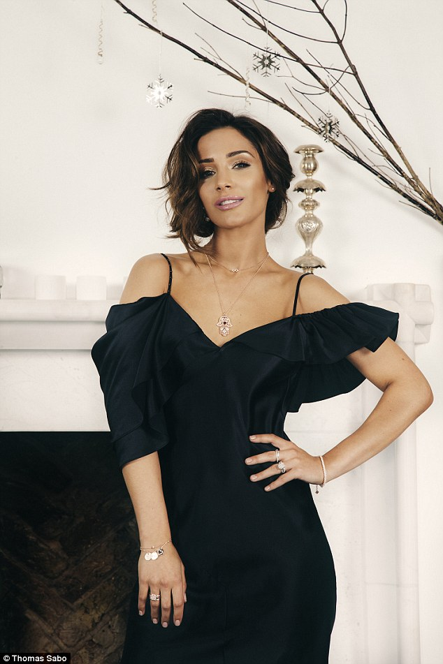 Model behaviour: All the attention was on Frankie Bridge as she wowed in a Thomas Sabo exclusive Christmas shoot modelling AW luxury jewelry last week