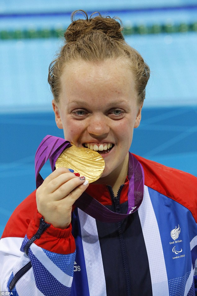 Going for the win? Ellie is just 22 and was already scooping medals at the Beijing Olympics, aged just 13
