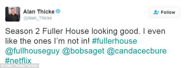 Just hours before news broke of his death, he had tweeted on Tuesday about the Netflix Original series Fuller House (shown above), which he most recently appeared in