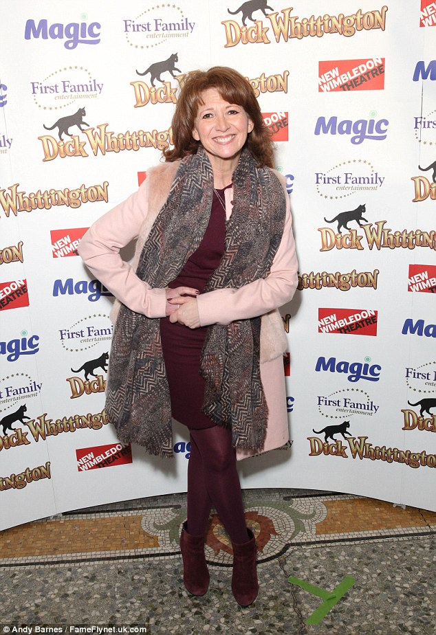 Beaming: Bonnie Langford put in a fashionable appearance at the event