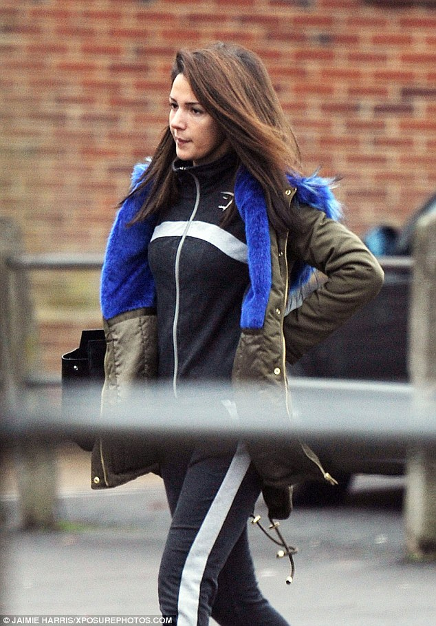 Furry nice! Michelle Keegan, 29, made the most of her down time as she headed for a pampering session at Dr MediSpa cosmectic clinic in Loughton, Essex, on Tuesday