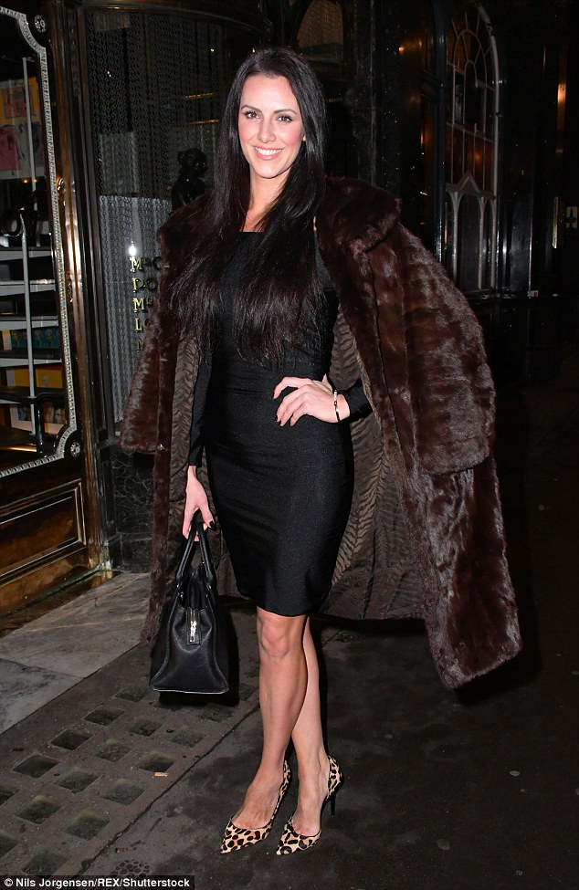 Glamazon: Apprentice star Jessica Cunningham covered up for a glamorous night out in London on Tuesday for a launch at Buddah-Bar with the other contestants
